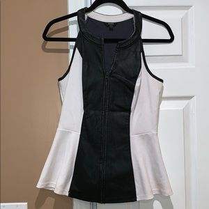 Guess Half-leather top